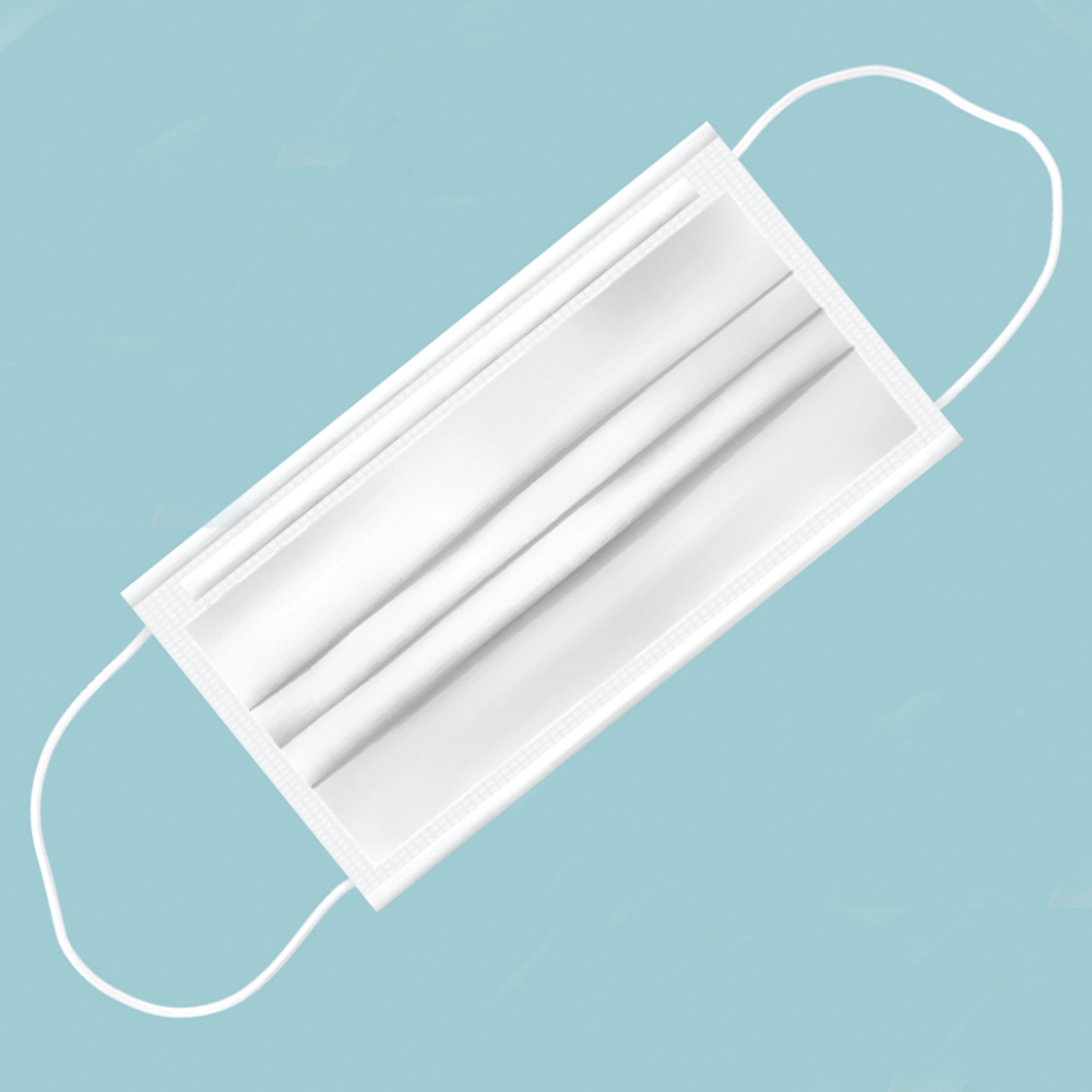 3-PLY DISPOSABLE, COMPOSTABLE FACE MASKS